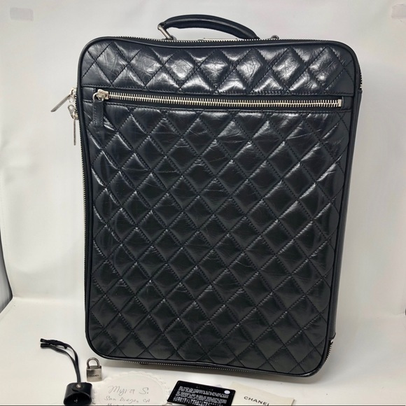 CHANEL Handbags - Diamond Quilted Carry On Trolly Rolling Suitcase